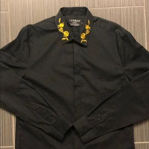 Topman Embroidered Button Down